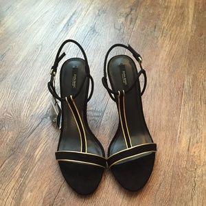 ZARA Sandals with Details:Black, US 9/EUR 40